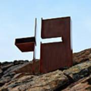 Helsinki Rock Church Cross Art Print