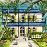 Hemingway's Home Key West Art Print