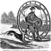 Hemmings Unicycle, 1869 Art Print by Granger
