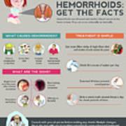 Hemorrhoids Get The Facts Art Print