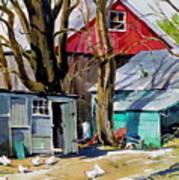 Hen House Art Print