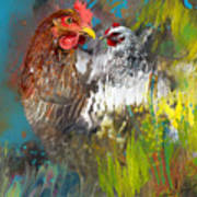 Hen Love Art Print
