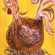Hen Nesting Art Print by Eloise Schneider