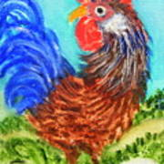 Hen With Egg Art Print