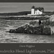 Hendricks Head Lighthouse, Maine Art Print