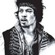 Hendrix No.02 Art Print by Caio Caldas