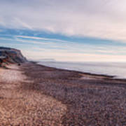 Hengistbury Head And Beach Art Print