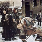 Henningsen  Evicted 1890 Art Print by Granger
