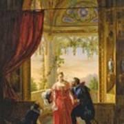 Henri Iv And His Mistress Art Print