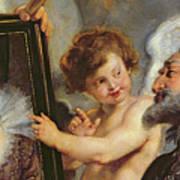 Henri Iv Receiving The Portrait Of Marie De Medici Art Print