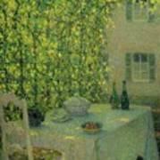 Henri Le Sidaner 1862 - 1939 The Village Table Gerberoy Art Print