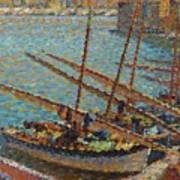 Henri Martin 1860 - 1943 Boats To Collioure Art Print