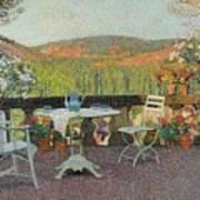 Henri Martin 1860 - 1943 Tea Time On The Terrace Marquayrol Art Print