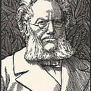 Henrik Ibsen, Norwegian Playwright Art Print