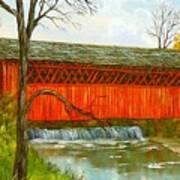 Henry Bridge Vt. Art Print