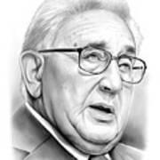 Henry Kissinger Art Print