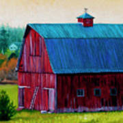 Henry Strong Barn Circa 1928 Print by Stacey Neumiller