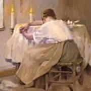 Her First Born 1888 Art Print