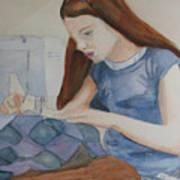 Her First Quilt Art Print