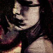Her Heart Is A Wild Fire  Art Print