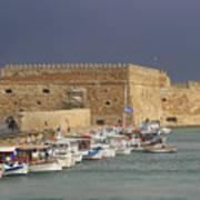 Heraklion Castle Crete Greece Art Print