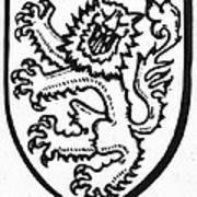 Heraldry: Lion Art Print