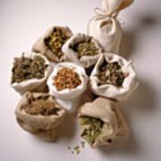 Herbal Teas And Seeds Art Print