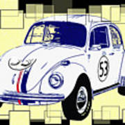 Herbie The Love Bug Art Print