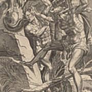 Hercules Killing Cacus Art Print