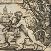 Hercules Killing The Nemean Lion Art Print