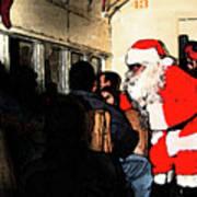 Here Come Santa Art Print
