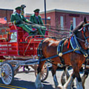 Here Comes The King-budweiser Clydesdales Art Print
