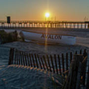 Here Comes The Sun - Avalon New Jersey Art Print