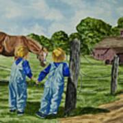 Here Horsey Horsey Art Print