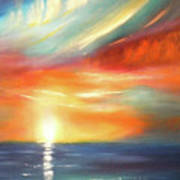 Here It Goes - Colorful Sunset Art Print