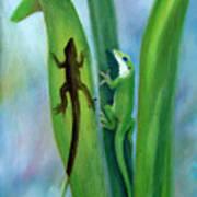 Here Lizard Lizard Art Print