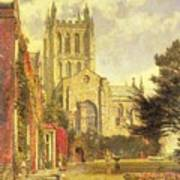 Hereford Cathedral Art Print by John William Buxton Knight