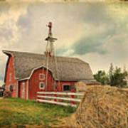 Heritage Village Barn Art Print