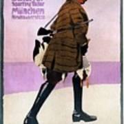 Hermann Scherrer Sporting Tailor - Munich, Germany - Vintage Advertising Poster Art Print