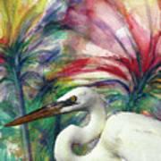 Heron Flair Art Print