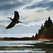 Heron Silhouette Art Print