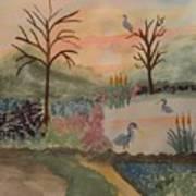 Heron's Hangout At Sunrise Art Print