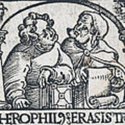 Herophilos, Erasistratus, Ancient Greek Art Print