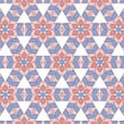 Hexagonal Flower Pattern Art Print