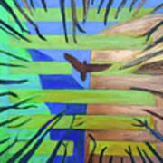 Hexagram-57-xun-penetrating-wind- Art Print