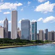Hi-res Picture Of Chicago Skyline And Lake Michigan Art Print