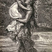 Hiawatha And Minnehaha Print by Unknown