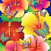 Hibiscus Feast Art Print