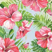 Hibiscus Paradise-jp3965 Art Print