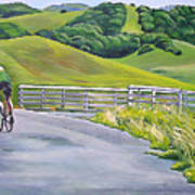 Hicks Valley Bike Ride Art Print by Colleen Proppe
